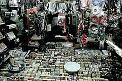 Electronic parts vendor in Akihabara, Tokyo